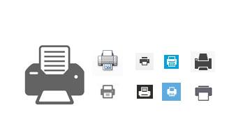 Icônes imprimantes