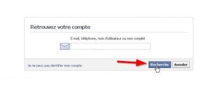 Retrouver mon compte Facebook oublié