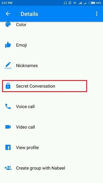Secret conversation