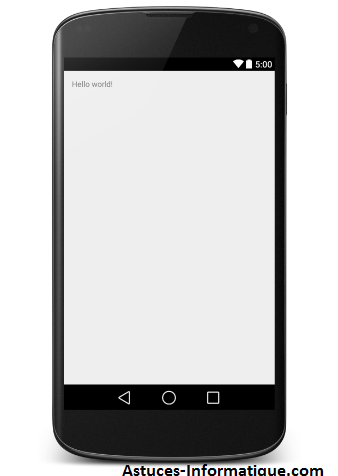 Exemple Android Hello World