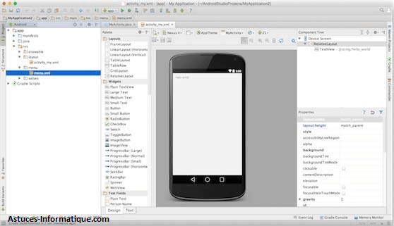 Exemple d'application Android