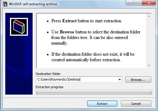 Extraction de l'archive