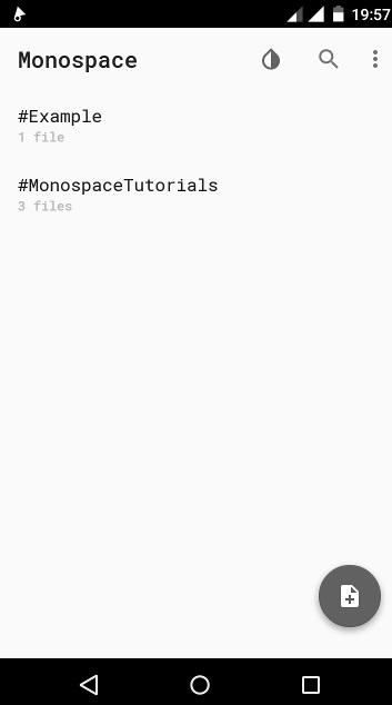 Android écriture - Monospace