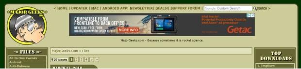 Télécharger logiciels - MajorGeeks