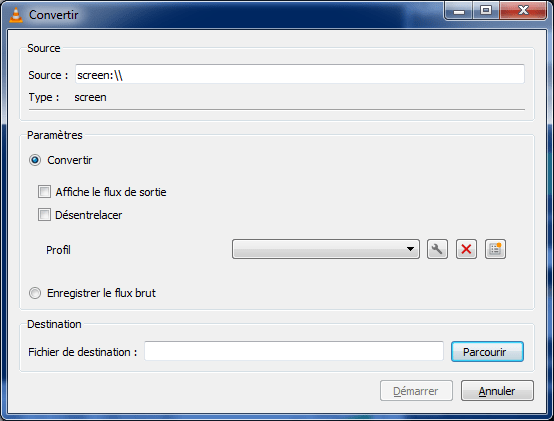 VLC, enregistrer vidéo, convertir