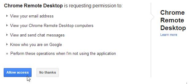 Accès à distance à l'ordinateur avec Google Chrome - 3