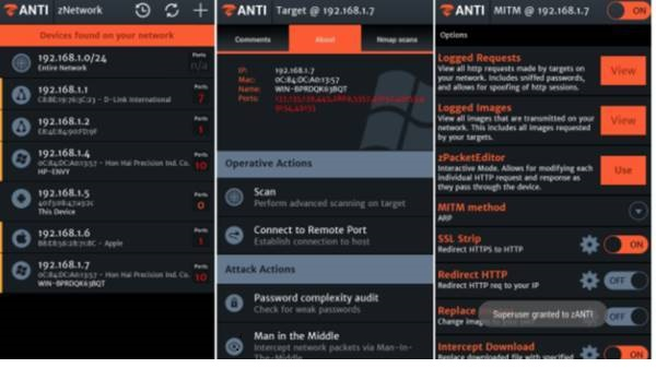ZAnti Pénétration Test Android Hacking Toolkit