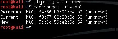 Usurpation d'adresse MAC avec macchanger