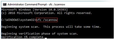 Windows 10 - ScanDisk - Invite de commande