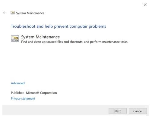 Windows 10 - système maintenance
