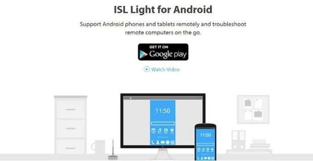 ISL Light for Android - contrôler à distance une appareil Android