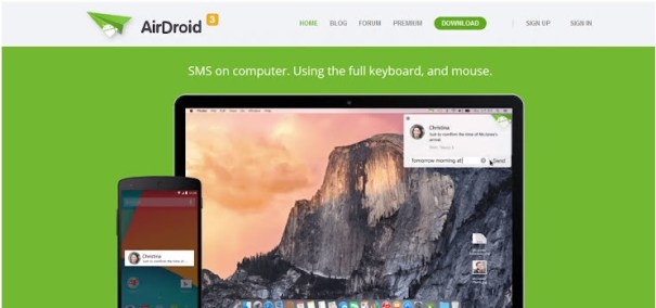 AirDrop - contrôler à distance une appareil Android