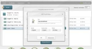 Fusionner fichier audio - type de sortie