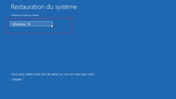 Windows 10 - Restauration