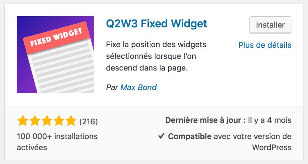 """Résultat de recherche d'images pour """"Q2w3 fixed widget"""""""