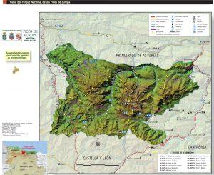 Desplegable Parque Picos de Europa mapa