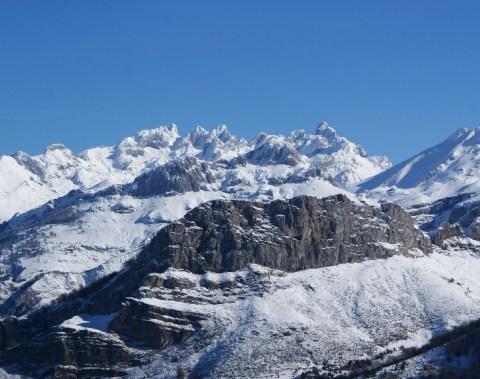 Nieve en los Picos de Europa