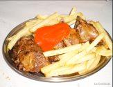 Para comer: carne guidada con patatas