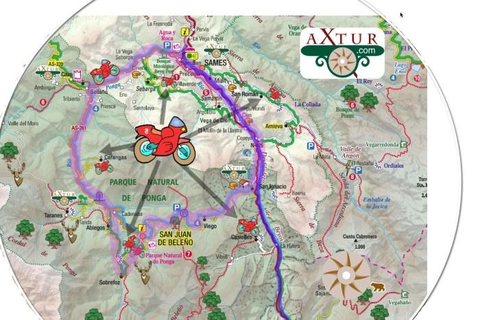 Asturias en Moto. Ruta por Desfiladero de los Beyos