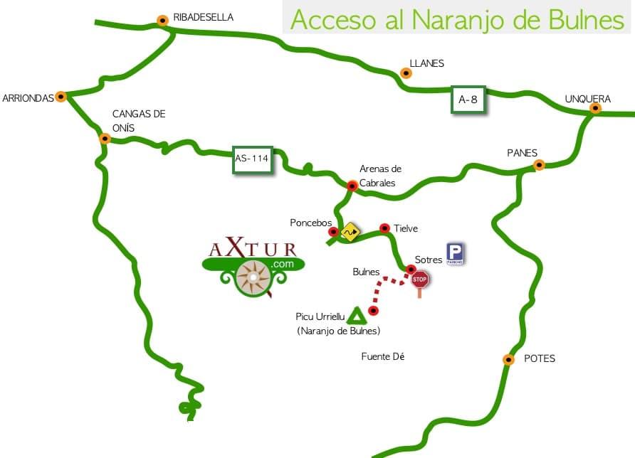 acceso al Naranjo de Bulnes