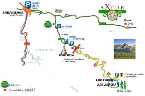Acceso a los lagos-Covadonga