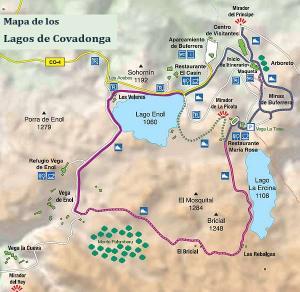 Ruta en los lagos de Covadonga