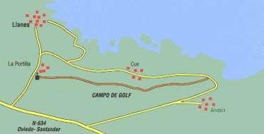 Ruta campo de golf llanes