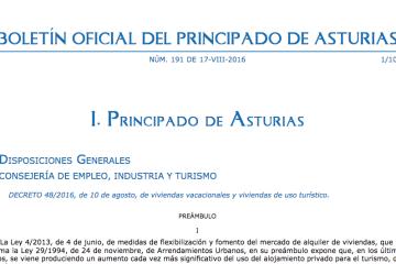 normativa vivienda uso turistico en asturias