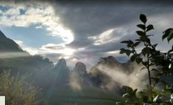 Vistas desde Cazo, Montañas