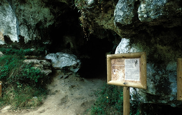 Arte rupestre en Asturias cueva de el buxu