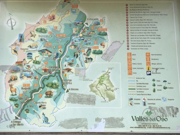 la ruta del oso asturias mapa