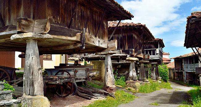 horreos en asturias la construccion