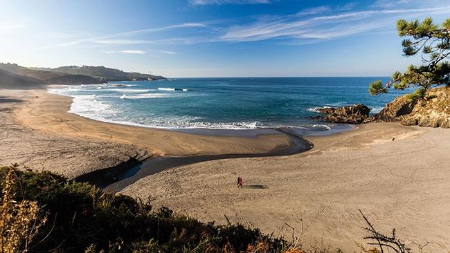 playas para niños en asturias playa de frejulfe