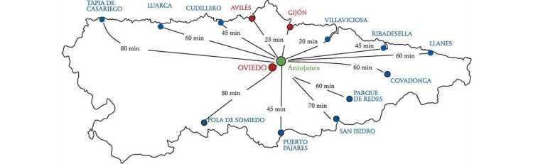 Mapa Asturias Antojanes