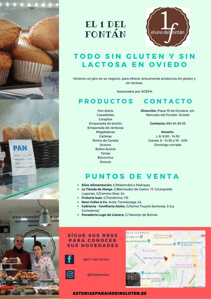 Guía de obradores sin gluten asturianos - El 1 del Fontán