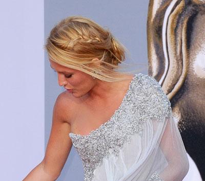 celebrity updos stylish bride