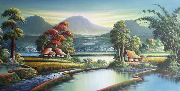 Lukisan Permandangan  Landskap   Asubjawordpresscom