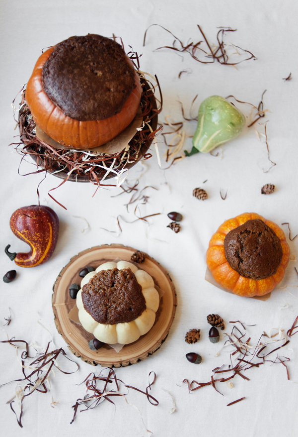 Cakes Baked In Pumpkins
