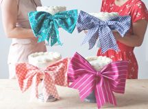 Cakes with bows • A Subtle Revelry