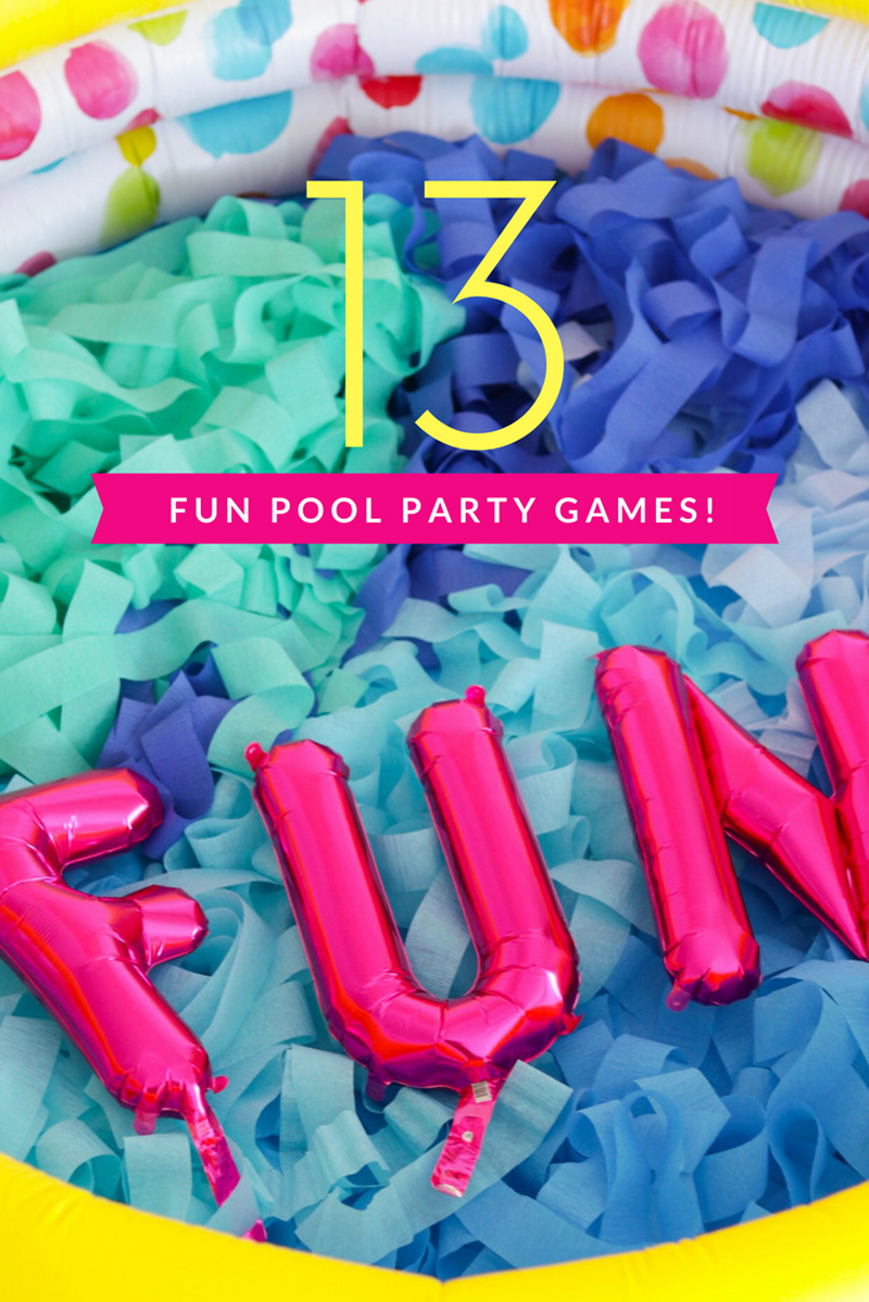 13 pool party games