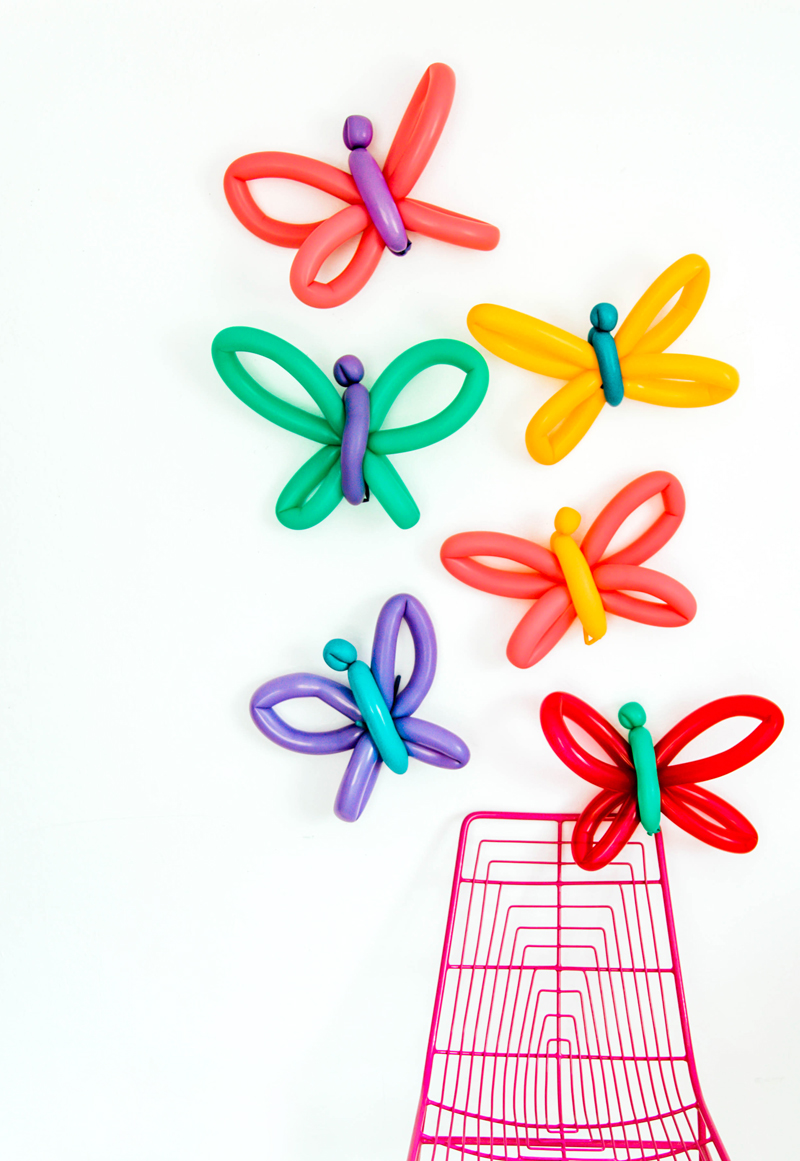 easy butterfly balloon animal