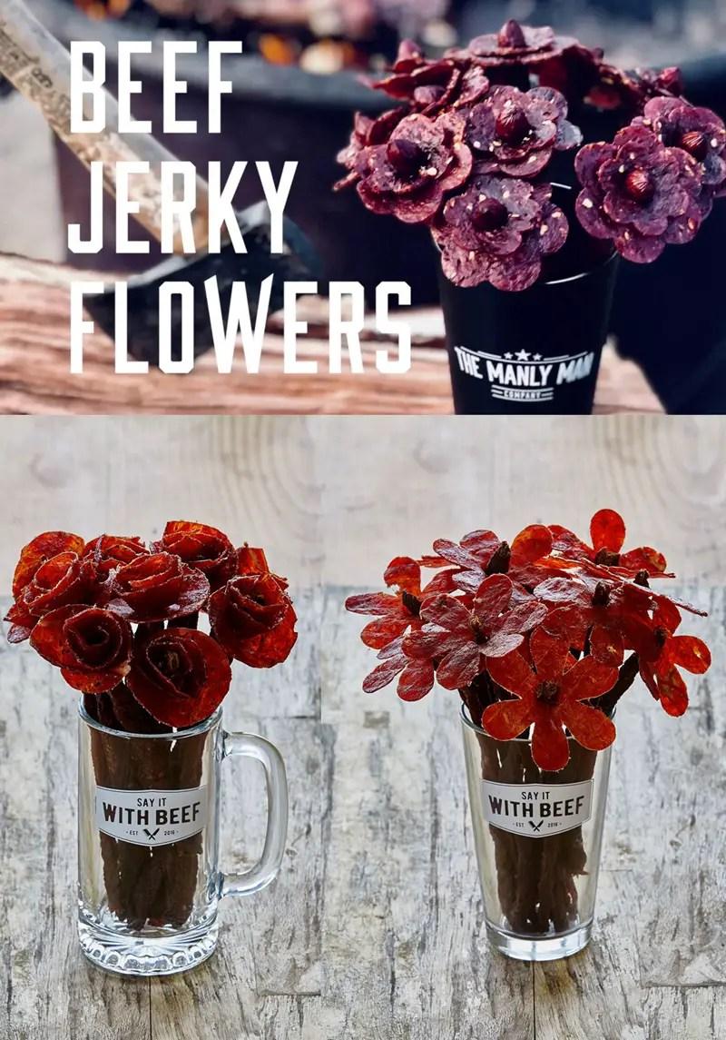 Beef Jerky Bouquet Diy : jerky, bouquet, Jerky, Bouquet, Donut, Edible, Valentine, Subtle, Revelry