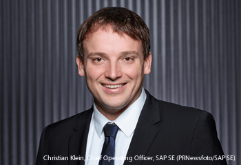 Christian Klein, Chief Operating Officer, SAP SE (PRNewsfoto/SAP SE)
