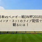 日本vsベルギー戦(W杯2018)をインターネットのライブ配信で観るには!