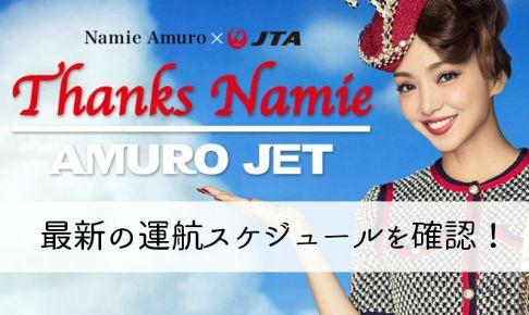 AMUROJETの運航スケジュール7月最新版!フライト時刻表まとめ!