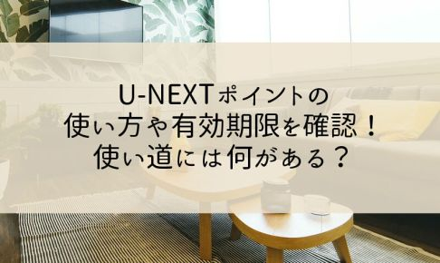 U-NEXTのポイントの使い方や有効期限を確認!使い道には何がある?
