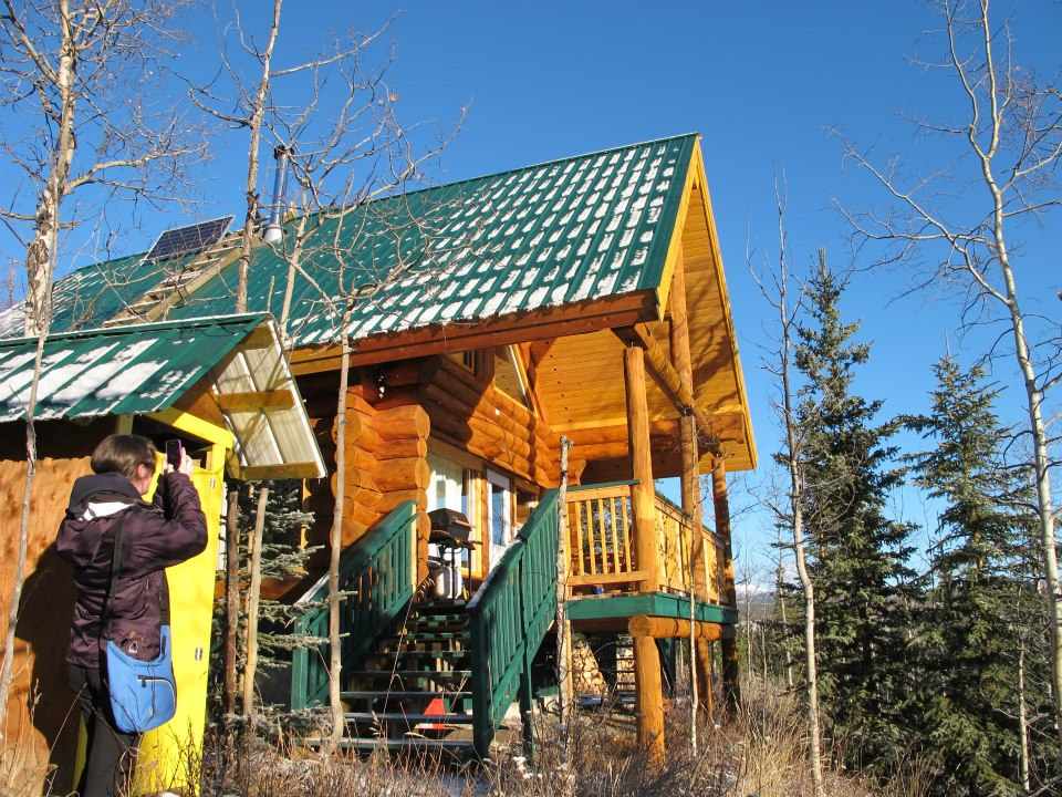 Muktuk Adventures Shilo's Chalet, our cabin in Whitehorse, Canada