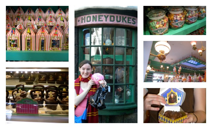 We visited Honeydukes Sweet Shop where I bought a Chocolate Frog