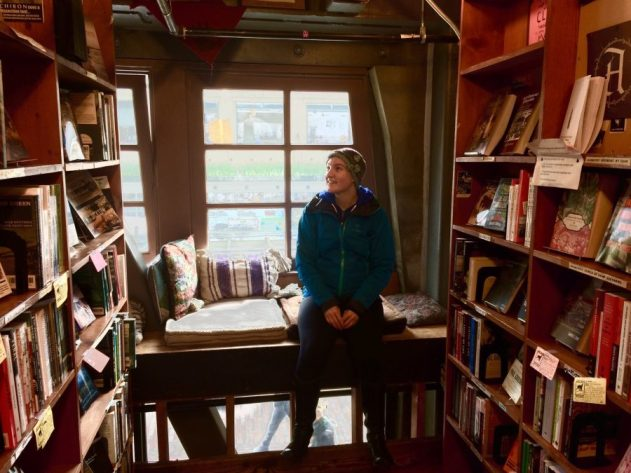 Window seat at Left Bank Books, Seattle