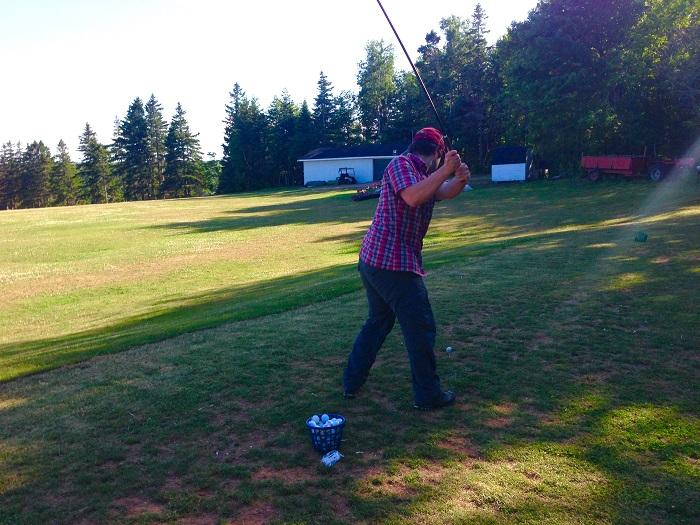 Micah Golfing Prince Edward Island